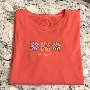 Women's LS Life is Good Crusher Tee Size L EUC